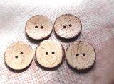 木 ココナッツボタン 40mm 2穴 5個