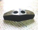 貴重 本水牛皮つき ダッフルボタン ひし形45mm