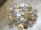 茶蝶貝 まっ平ら型 2穴 13mm 30個セット