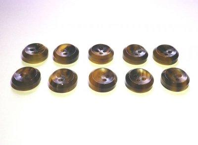画像2: 本水牛釦 シャツ(1)着分 ツヤの茶色  No.995-3