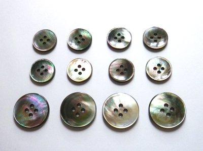 画像1: 黒蝶貝ボタン スーツ専用型 1着分セット 最高級ボタン SH-2203