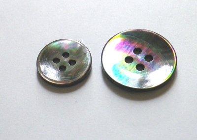 画像3: 黒蝶貝ボタン スーツ専用型 1着分セット 最高級ボタン SH-2203