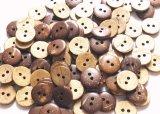 木 ココナッツのボタン 10mm 大量100個セット