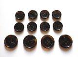 本水牛釦 スーツ(1)着分 貴重な濃い茶色  No.580-DMB