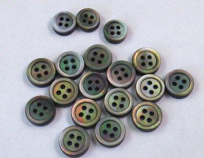 画像2: 黒蝶貝 3mm厚オリジナルシルキー加工 ボタンダウンシャツ1着分 セット販売
