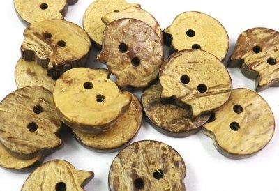 画像3: 木 ヤシ、ココナッツのネコボタン CO-279 2穴