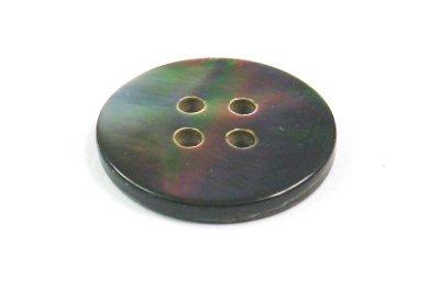 画像2: 黒蝶貝 まっ平ら型  SH1120-4 4穴