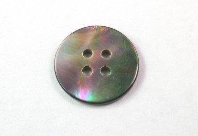 画像1: 黒蝶貝 まっ平ら型  SH1120-4 4穴