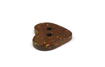 画像3: 木 ヤシ、ココナッツのボタン CO-282 ハート型 2穴