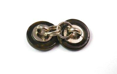 画像2: 黒蝶貝ボタンで作った ダブルカフス カフリンクス 1着分