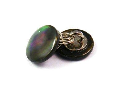 画像3: 黒蝶貝ボタンで作った ダブルカフス カフリンクス 1着分
