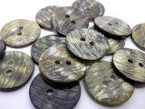 500円 送料無料 黒蝶貝 ゼブラ柄の裏使い 2穴