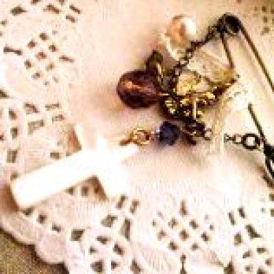 画像5: 貝パーツ 十字架型(クロス) 黒蝶貝