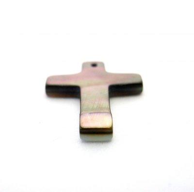 画像2: 貝パーツ 十字架型(クロス) 黒蝶貝