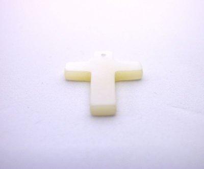 画像2: 貝パーツ 十字架型(クロス) 白蝶貝