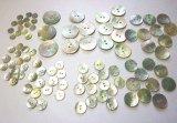 真珠の母貝 パールシェル ボタン アコヤ貝 全サイズ総数95個