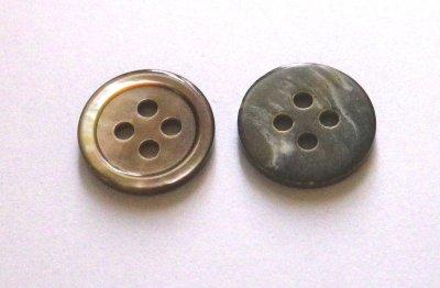 画像4: 黒蝶貝ボタン シンプルな定番型 (1)着分 SH-117