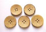 木 ココナッツボタン 40mm 4穴 5個