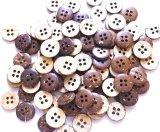 木 ココナッツのボタン 4穴 10mm 大量100個セット