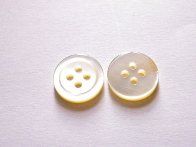 画像4: 白蝶貝ボタン シンプルな定番型 (1)着分 SH-117