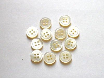 画像1: 白蝶貝ボタン シンプルな定番型 (1)着分 SH-117