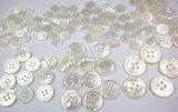 最高級白蝶貝, 各サイズいっぱい入って大特価総数105個 定番のNo.17型 4穴