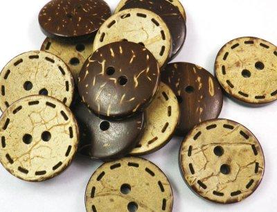 画像4: 木 ヤシ、ココナッツのボタン CO-280 2穴