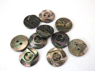画像3: 黒蝶貝ボタン 4面カットの高級品 SH-1208