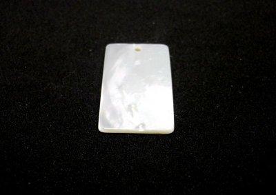 画像2: 貝パーツ 長方形型 白蝶貝
