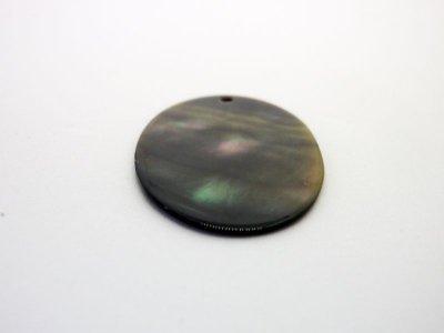 画像2: 貝パーツ 楕円型 黒蝶貝