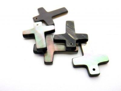 画像4: 貝パーツ 十字架型(クロス) 黒蝶貝
