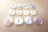 白蝶貝ボタン シャープな2穴 スーツ1着分  SPH-1172